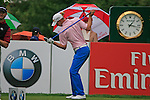 Marcel Siem (GER) warms up on the 1st tee before starting his round during of Day 3 of the BMW International Open at Golf Club Munchen Eichenried, Germany, 25th June 2011 (Photo Eoin Clarke/www.golffile.ie)