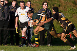 "Frank Halai powers down the sideline past Koiatu Koiatu on his way to score the third of his 4 tries. CMRFU Counties Power ""Game of the Week' between Bombay & Pukekohe played at Bombay on Saturday 17th May 2008..Pukekohe led 15 - 0 at halftime & went on to win 42 - 5."