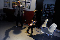 Corso di teatro di Lucia Panaro. Prove dello spettacolo. Arianna D'Arconte.<br /> Theatre course, teacher director Lucia Panaro. Rehearsals for the show.