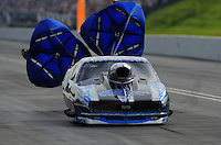 Jun. 19, 2011; Bristol, TN, USA: NHRA pro mod driver Khalid Balooshi during eliminations at the Thunder Valley Nationals at Bristol Dragway. Mandatory Credit: Mark J. Rebilas-
