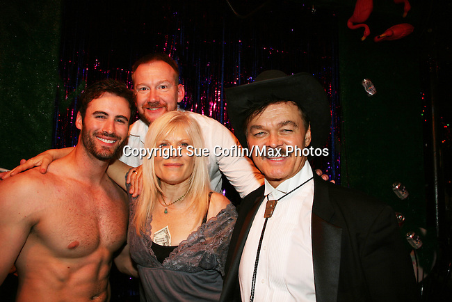 Matthew Pender (former Detroit Tiger pitcher) & Will Clarke & Randy Jones (original cowboy Village People) and all in When Joey Married Bobby at the Roy Arias Theater Center as they join One Life To Live's Ilene Kristen on April 28, 2010 at Will Clark's P*rno Bingo at Pieces, New York City, New York to benefit the American Foundation for Suicide Prevention - an event presented by We Love Soaps (Damon Jacobs and Roger Newcomb). (Photos by Sue Coflin/Max Photos)