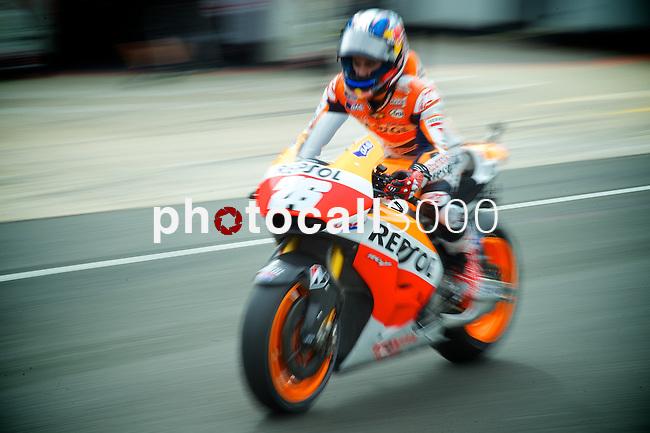 hertz british grand prix during the world championship 2014.<br /> Silverstone, england<br /> August 28, 2014. <br /> FP MotoGP<br /> Box<br /> dani pedrosa<br /> PHOTOCALL3000/ RME