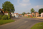 General view of main street in village of Cavendish, Suffolk, England