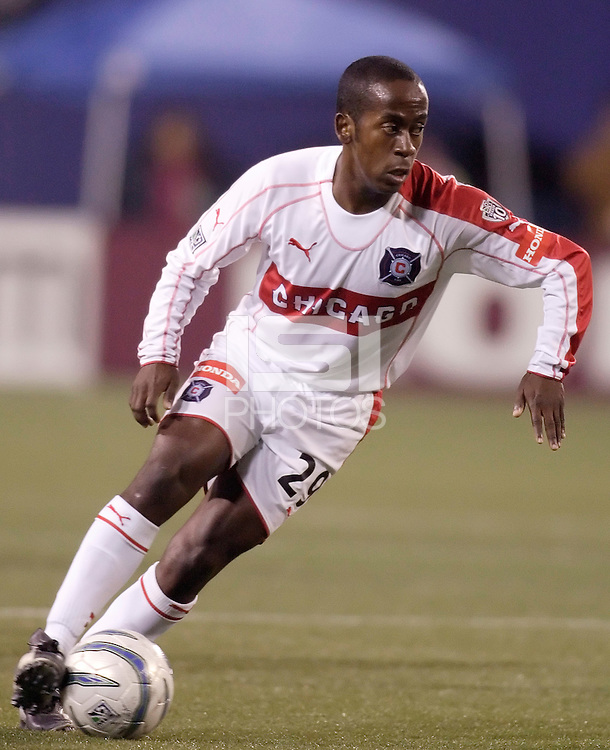The Fire's Thiago. The Chicago Fire defeated the MetroStars 1 - 0 at Giant's Stadium, East Rutherford, NJ, on Friday April 22, 2005.