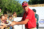 Ian Poulter signs autographs after winning his match at the end of the afternoon Quarter Final session on Day 3 of the Volvo World Match Play Championship in Finca Cortesin, Casares, Spain, 21st May 2011. (Photo Eoin Clarke/Golffile 2011)