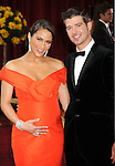 HOLLYWOOD, CA. - March 07: Paula Patton and Robin Thicke arrive at the 82nd Annual Academy Awards held at the Kodak Theatre on March 7, 2010 in Hollywood, California.
