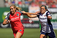 Portland, OR - Saturday September 02, 2017: Allie Long, Shelina Zadorsky during a regular season National Women's Soccer League (NWSL) match between the Portland Thorns FC and the Washington Spirit at Providence Park.