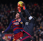 30.12.2015 Barcelona. La Liga , day 17. Picture show Leo Messi and Adan in action during game between FC Barcelona against Betis at Camp Nou