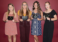 RICK PECK/SPECIAL TO MCDONALD COUNTY PRESS<br /> MC Pom Awards - Taylor Tyson (Best All-Around), Erin Wolfe (Most Dedicated), Shaylen Willis (Best High Kicks) and Kirklyn Kasischke (Rookie of the Year).