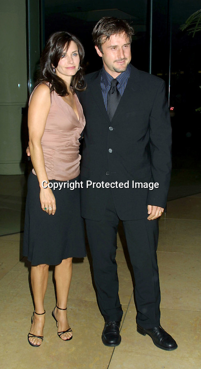 ©2002 KATHY HUTCHINS/HUTCHINS PHOTO.THE IMAGINE AWARDS BENEFITING INNER CITY ARTS.BEVERLY HILTON HOTEL.BEVERLY HILLS, CA.NOVEMBER 21, 2002..COURTNEY COX ARQUETTE AND DAVID ARQUETTE