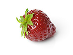 Red organic freshly picked homegrown strawberry isolated on white background