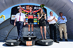 Koen Bouwman (NED) Lotto NL-Jumbo wins the mountains polka dot jersey on the podium at the end of the final Stage 8 of the Criterium du Dauphine 2017, running 115km from Albertville to Plateau de Solaison, France. 11th June 2017. <br /> Picture: ASO/A.Broadway | Cyclefile<br /> <br /> <br /> All photos usage must carry mandatory copyright credit (&copy; Cyclefile | ASO/A.Broadway)