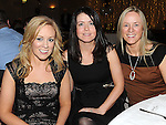 Miriam Mannion, Michelle Smith and Pheadra McCleery at a dinner in honour of retired firemen held in the Glenside hotel. Photo: Colin Bell/pressphotos.ie