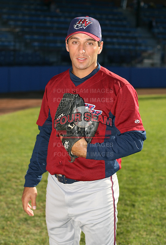 Diego Echeverria of the Hudson Valley Renegades, Class-A affiliate of the Tampa Bay Devil Rays, during New York-Penn League baseball action.  Photo by Mike Janes/Four Seam Images