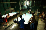 PHILIPPINES, Palawan, Puerto Princesa, playing billards in the City Port Area
