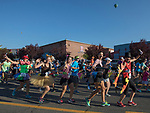 Runners in costume start the 49th Annual Journal Jog in Reno, Nevada on Sunday, September 10, 2017.