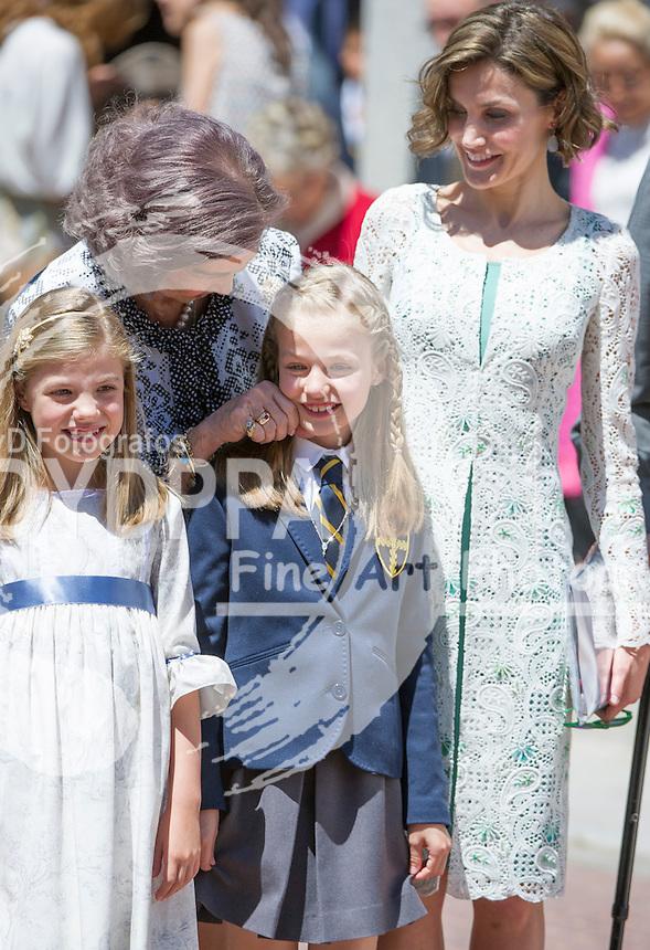 Queen Letizia; Former Queen Sofia; Princess Leonor; Princess Sofia
