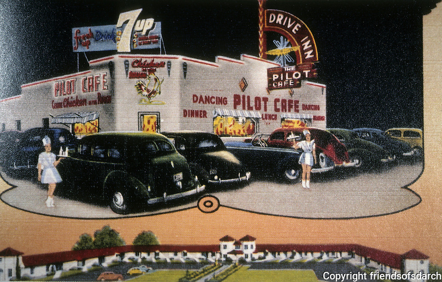 Diners:  Pilot Cafe, Salt Lake City UT, 1941. 1947 view. Demolished.