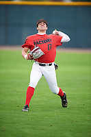 Tayler Aguilar (17) of Northridge High School in Evans, Colorado during the Under Armour All-American Pre-Season Tournament presented by Baseball Factory on January 14, 2017 at Sloan Park in Mesa, Arizona.  (Mike Janes/MJP/Four Seam Images)