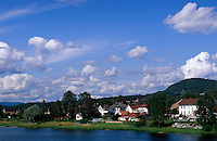 Norwegen, Hokksund bei Oslo, Fluss Drammenselva
