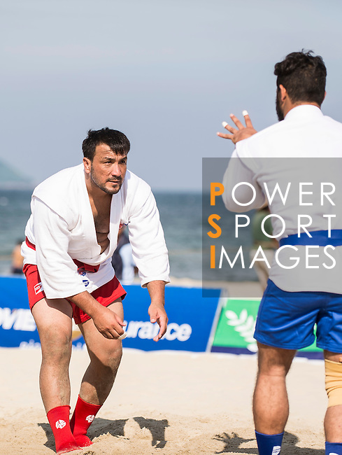 Turkmenistan vs Afghanistan during the Sambo competition on Day Nine of the 5th Asian Beach Games 2016 at Bien Dong Park on 02 October 2016, in Danang, Vietnam. Photo by Marcio Machado / Power Sport Images