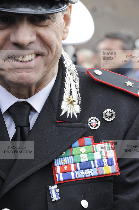 - Italian Army, senior officer of Carabinieri during a military ceremony....- Esercito Italiano, alto ufficiale dei Carabinieri durante una cerimonia militare....