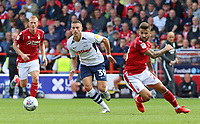 Preston North End's Billy Bodin gets away from Nottingham Forest's Tiago Silva<br /> <br /> Photographer David Shipman/CameraSport<br /> <br /> The EFL Sky Bet Championship - Nottingham Forest v Preston North End - Saturday 31st August 2019 - The City Ground - Nottingham<br /> <br /> World Copyright © 2019 CameraSport. All rights reserved. 43 Linden Ave. Countesthorpe. Leicester. England. LE8 5PG - Tel: +44 (0) 116 277 4147 - admin@camerasport.com - www.camerasport.com