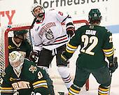 Brody Hoffman (UVM - 37), Tanner Pond (NU - 22), Brady Shaw (UVM - 22) - The visiting University of Vermont Catamounts defeated the Northeastern University Huskies 6-2 on Saturday, October 11, 2014, at Matthews Arena in Boston, Massachusetts.