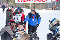 Rose Capistrant At the start of the 2016 Junior Iditarod Sled Dog Race on Willow Lake  in Willow, AK February 27, 2016