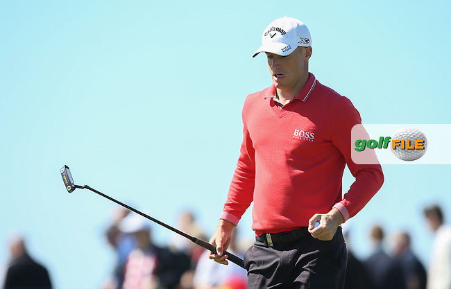 Alex Noren (SWE) appearing determined during Round Two of the 2015 Nordea Masters at the PGA Sweden National, Bara, Malmo, Sweden. 05/06/2015. Picture David Lloyd | www.golffile.ie