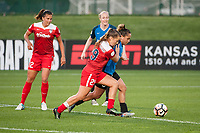 Kansas City, MO - Saturday May 27, 2017: Katherine Stengel, Meggie Dougherty Howard, Lo'eau Labonta during a regular season National Women's Soccer League (NWSL) match between FC Kansas City and the Washington Spirit at Children's Mercy Victory Field.