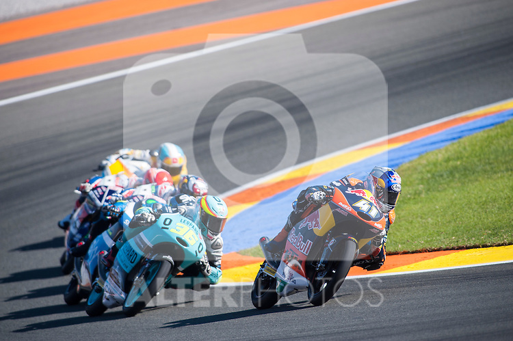 VALENCIA, SPAIN - NOVEMBER 11: Joan Mir, Brad Binder during Valencia MotoGP 2016 at Ricardo Tormo Circuit on November 11, 2016 in Valencia, Spain