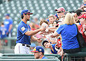 Yu Darvish (Rangers),<br /> MARCH 6, 2016 - MLB :<br /> Yu Darvish of the Texas Rangers signs autographs for fans before a spring training baseball game against the Seattle Mariners at Surprise Stadium in Surprise, Arizona, United States. (Photo by AFLO)