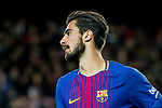Andre Filipe Tavares Gomes of FC Barcelona looks on  during the Copa Del Rey 2017-18 Round of 16 (2nd leg) match between FC Barcelona and RC Celta de Vigo at Camp Nou on 11 January 2018 in Barcelona, Spain. Photo by Vicens Gimenez / Power Sport Images