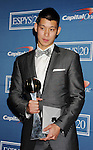 LOS ANGELES, CA - JULY 11: Jeremy Lin poses in the press room during the 2012 ESPY Awards at Nokia Theatre L.A. Live on July 11, 2012 in Los Angeles, California.
