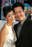 "Actress Elizabeth Wong and actor Russell Wong arrive at the American Premiere of ""The Mummy: Tomb Of The Dragon Emperor at the Gibson Amphitheatre on July 27, 2008 in Universal City, California."