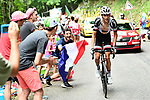 Warren Barguil (FRA) Team Sunweb climbing during Stage 9 of the 104th edition of the Tour de France 2017, running 181.5km from Nantua to Chambery, France. 9th July 2017.<br /> Picture: ASO/Alex Broadway | Cyclefile<br /> <br /> <br /> All photos usage must carry mandatory copyright credit (&copy; Cyclefile | ASO/Alex Broadway)