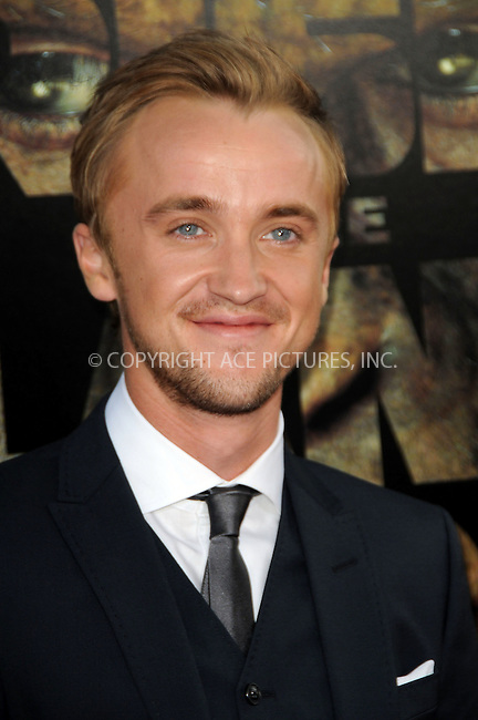 WWW.ACEPIXS.COM . . . . .  ....July 28 2011, LA....Tom Felton arriving at the premiere of 20th Century Fox's 'Rise Of The Planet Of The Apes' at Grauman's Chinese Theatre on July 28, 2011 in Los Angeles, California. ....Please byline: PETER WEST - ACE PICTURES.... *** ***..Ace Pictures, Inc:  ..Philip Vaughan (212) 243-8787 or (646) 679 0430..e-mail: info@acepixs.com..web: http://www.acepixs.com