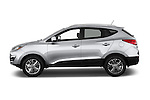 Car Driver side profile view of a 2015 Hyundai Tucson SE Awd 5 Door Suv 2WD Side View