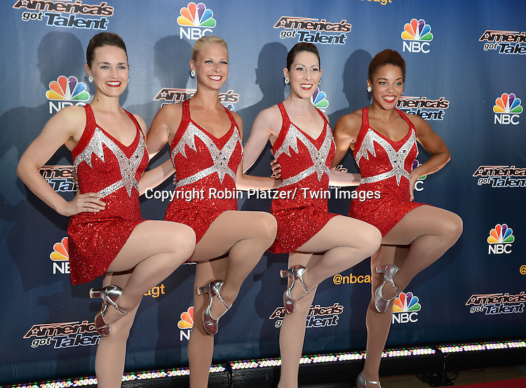 "The Rockettes attends the kick off  of Season 9's live voting rounds of ""America's Got Talent""  at Radio City Music Hall on July 29, 2014 in New York City."