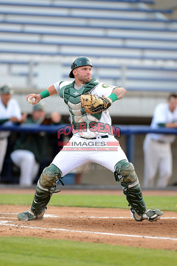 Beloit Snappers catcher Nick Rickles #6 during a game against the Cedar Rapids Kernels on May 22, 2013 at Pohlman Field in Beloit, Wisconsin.  Beloit defeated Cedar Rapids 7-6.  (Mike Janes/Four Seam Images)