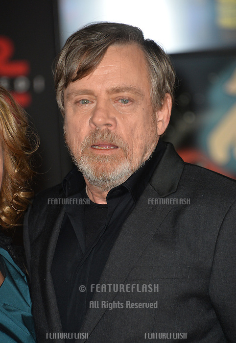 """Mark Hamill at the world premiere for """"Star Wars: The Last Jedi"""" at the Shrine Auditorium. Los Angeles, USA 09 December  2017<br /> Picture: Paul Smith/Featureflash/SilverHub 0208 004 5359 sales@silverhubmedia.com"""