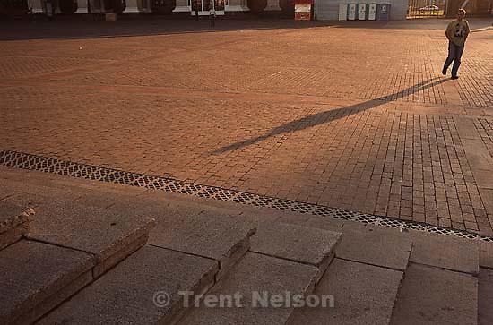 pedestrian in plaza<br />