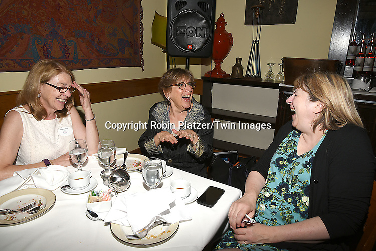 Barbara Becker, Helene Young and Carol Sulcoski  attend the Big Apple Knitters Guild 25th Annual Luncheon Gala on September 24, 2016 at Kellari Taverna in New York City, New York, USA. <br /> <br /> photo by Robin Platzer/Twin Images<br />  <br /> phone number 212-935-0770