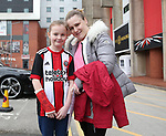 Female fans during the championship match at the Bramall Lane Stadium, Sheffield. Picture date 14th April 2018. Picture credit should read: Simon Bellis/Sportimage