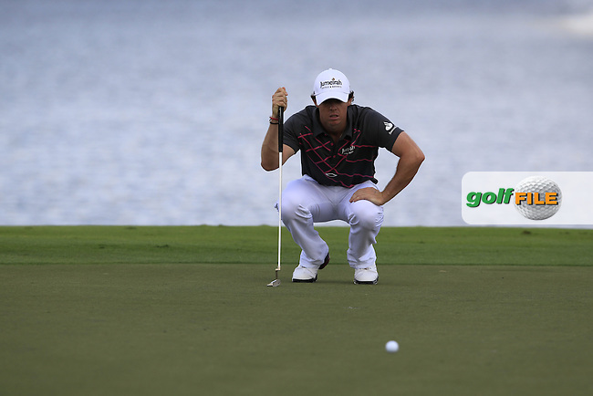 Rory McIlroy (NIR) lines up his putt on the 4th green during Sunday's Final Round of the WGC Cadillac Championship at TPC Blue Monster, Doral Golf Resort & Spa, Miami Florida, 11th March 2012 (Photo Eoin Clarke/www.golffile.ie)