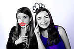 Selective color photo booth at a Bat Mitzvah at Chelsea Piers, Stamford, Ct.