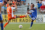 16 May 2015: New York's Marcos Senna (ESP) (19) and Carolina's Neil Hlavaty (4). The Carolina RailHawks hosted the New York Cosmos at WakeMed Stadium in Cary, North Carolina in a North American Soccer League 2015 Spring Season match. The game ended in a 2-2 tie.