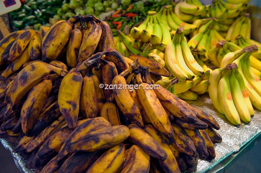Bananas, Urban, Downtown, Farm-fresh produce, fresh, fruits, Grand Central, Market, Los Angeles CA, Public, Southern California,  Fruits
