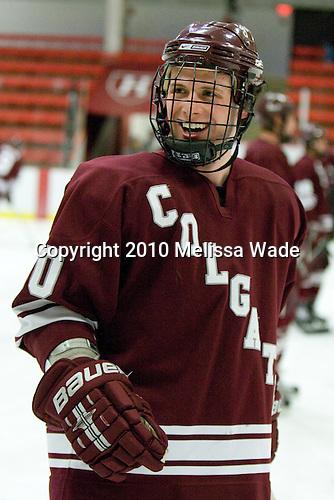 Kevin McNamara (Colgate - 10) - The Colgate University Red Raiders defeated the Harvard University Crimson 4-2 (EN) on Saturday, February 20, 2010, at Bright Hockey Center in Cambridge, Massachusetts.